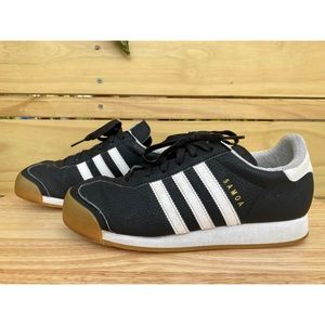 Adidas Samoa Shoes Black White Gum Size 5.5